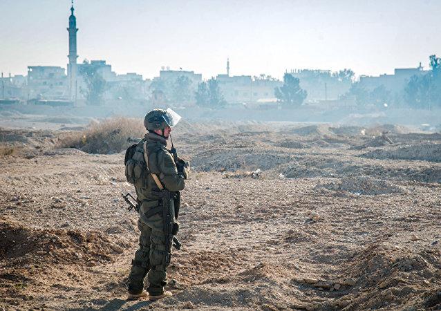 Un militaire russe en Syrie. Image d'illustration