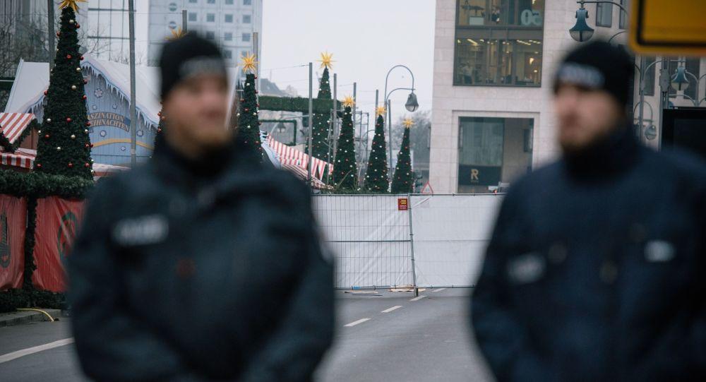 Les policiers allemands à Berlin