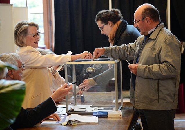 Bureau de vote à Paris