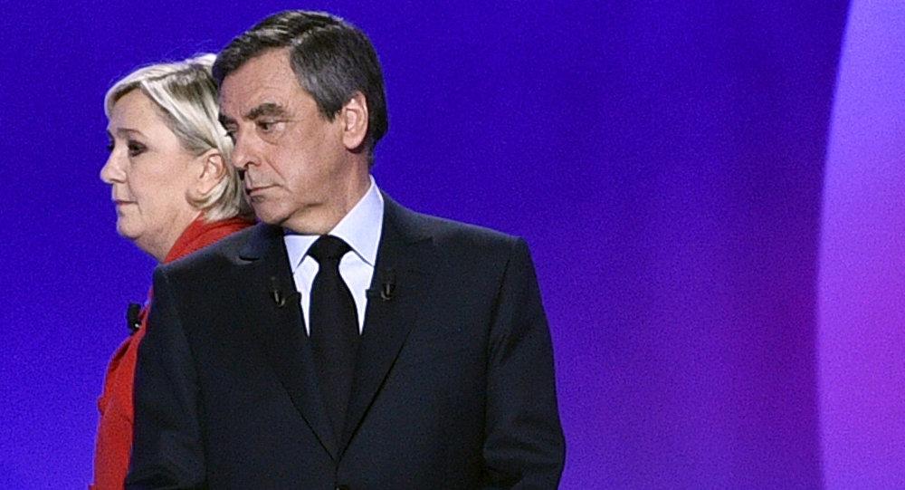 Marine Le Pen et François Fillon