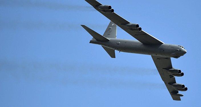 Un bombardier stratégique B-52 Stratofortress de l'armée américaine