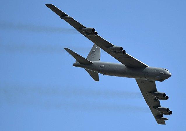 Un bombardier stratégique B-52 Stratofortress de l'armée américaine (image d'illustration)