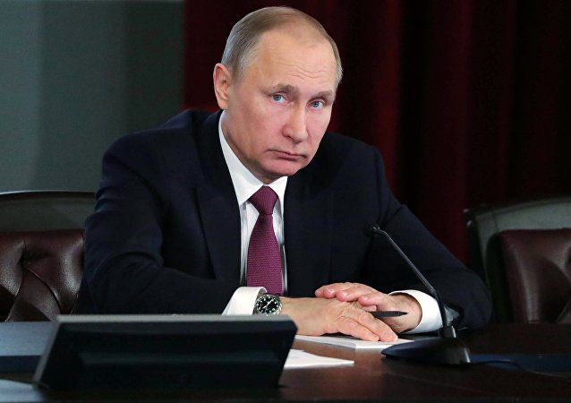 Президент РФ В. Путин принял участие в расширенном заседании коллегии МВД России