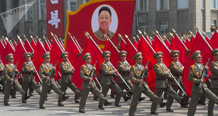 défilé en Corée du Nord