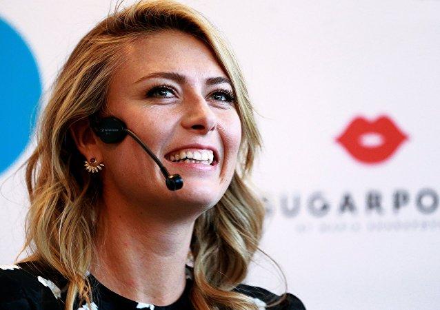 La célèbre joueuse de tennis russe Maria Sharapova. Archive photo