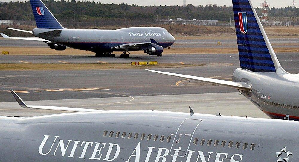 un vol d'United Airlines