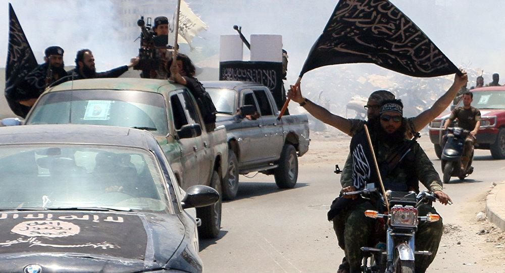 Un combattant du Front al-Nosra, branche d'Al-Qaïda en Syrie
