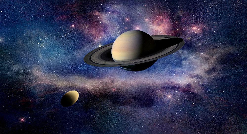 Titan und Saturn