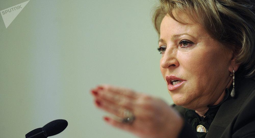 Valentina Matvienko, présidente du Conseil de la Fédération