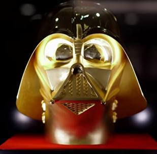 Un masque doré de Dark Vador