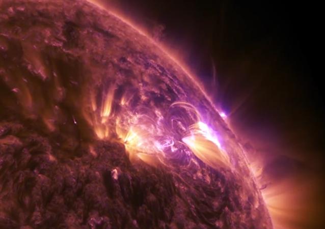 La NASA filme une éruption solaire