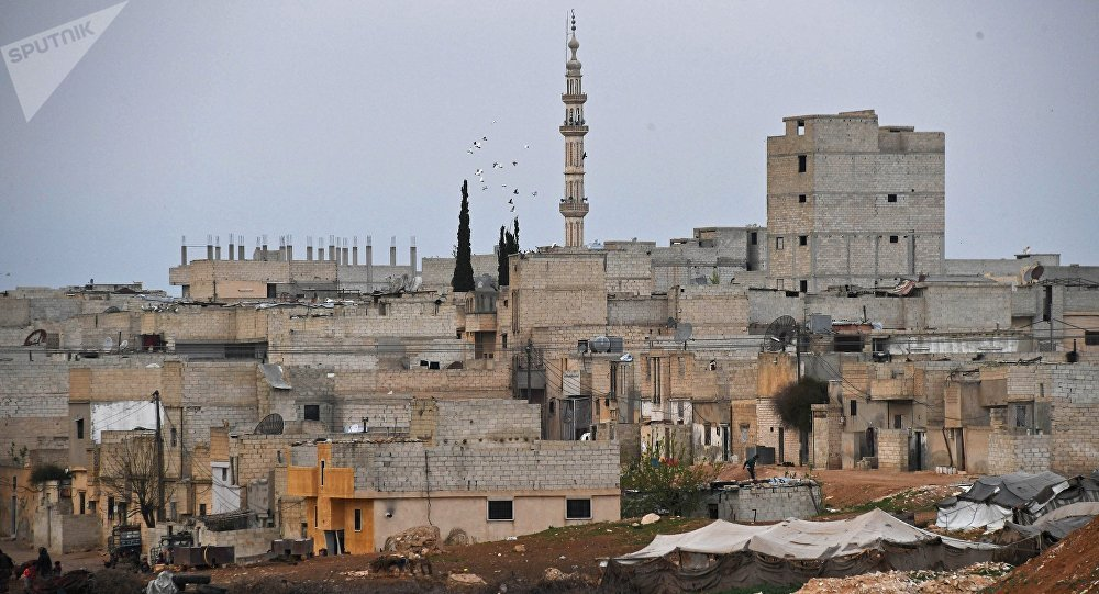 Buildings in Hama, Syria