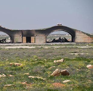 La base aérienne syrienne de Shayrat