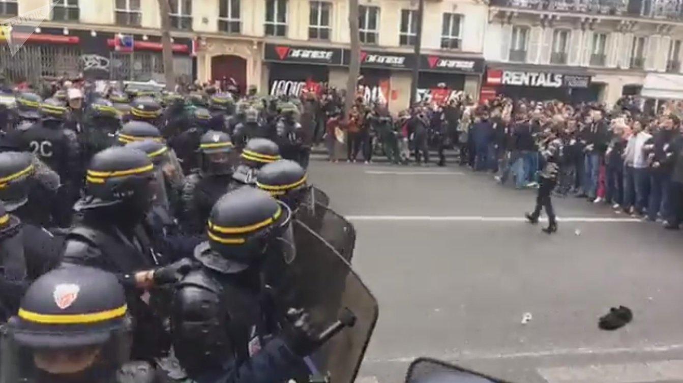 Manifestation contre les résultats des élections