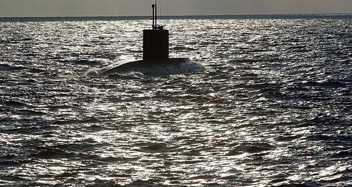 Un sous-marin en mer Baltique