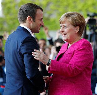 Angela Merkel et  Emmanuel Macron