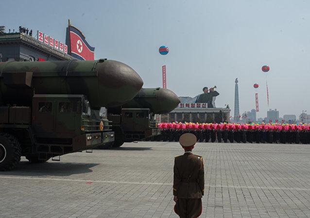 Une délifé militaire à Pyongyang