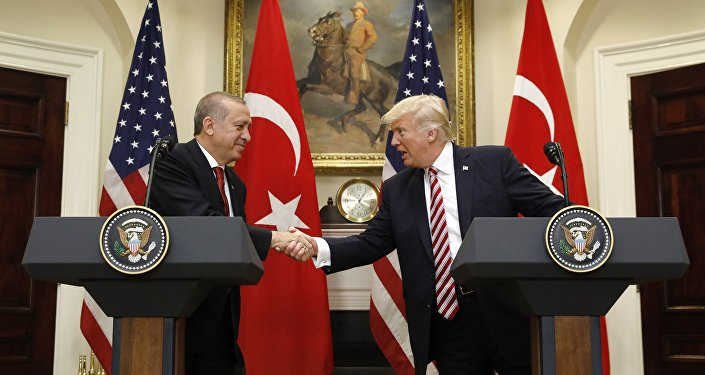 le président turc Recep Tayyip Erdogan et son homologue américain Donald Trump
