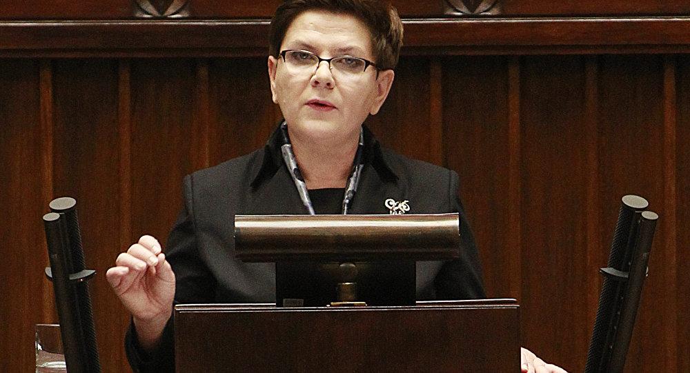 Beata Szydlo, première ministre de Pologne