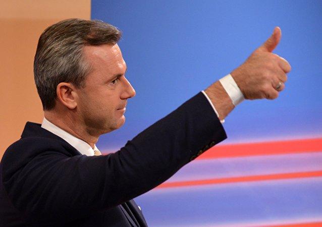 Norbert Hofer, membre du Parti de la liberté d'Autriche (FPÖ)