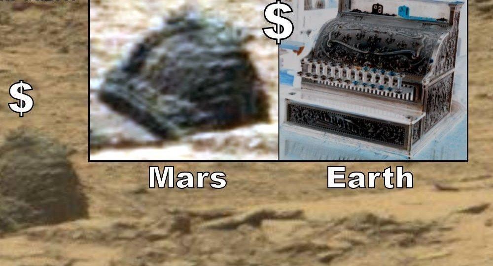Un objet mystérieux qui ressemble à une caisse enregistreuse retrouvé sur Mars