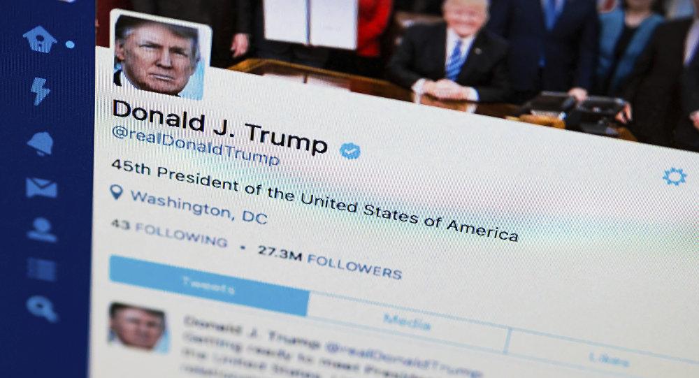 Donald Trump sur son compte Twitter