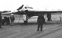 Horten Ho IX avant un vol d'essai, 2 février 1945.