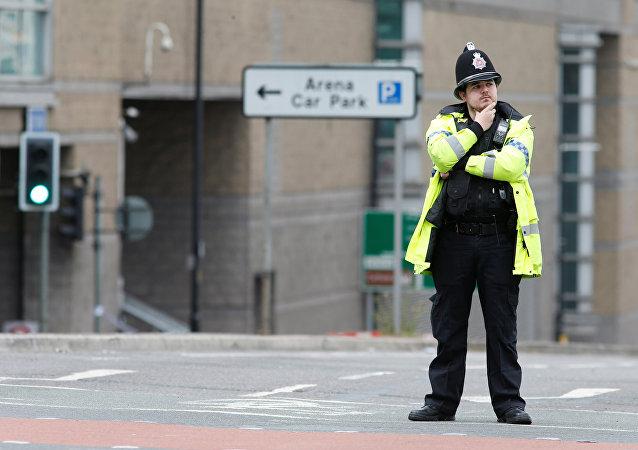Un policier à Manchester