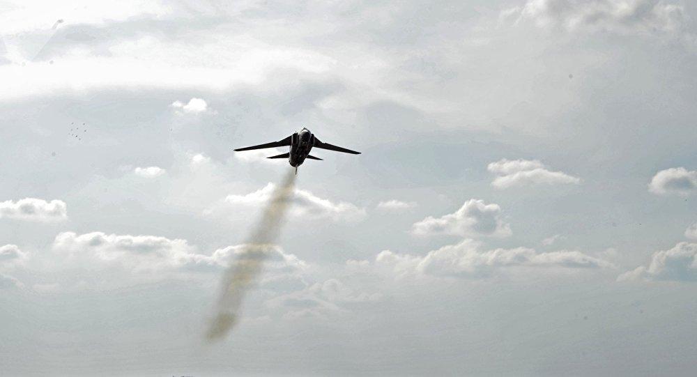L'avion MiG-23 de l'armée de l'air syrienne