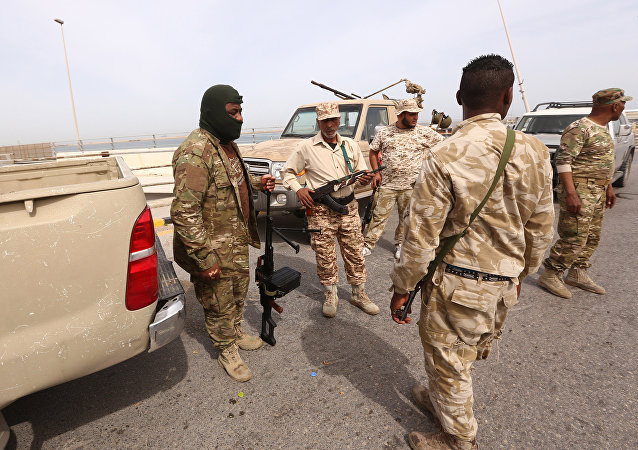 Les forces de sécurité libyennes à Tripoli