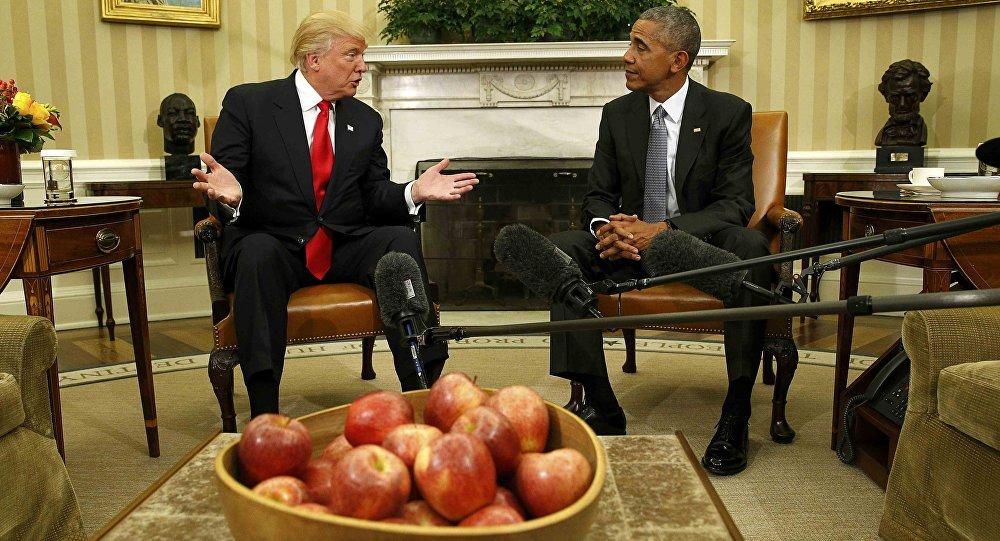 Donald Trump et Barack Obama