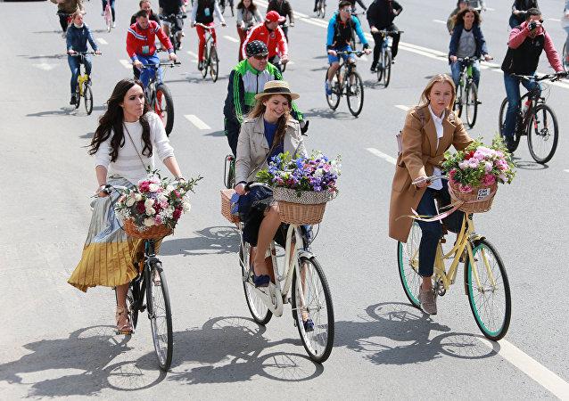 parade à vélo à Moscou