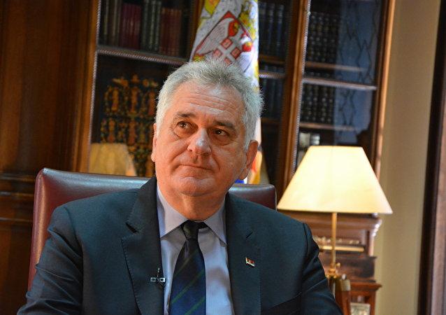 Le Président sortant de Serbie Tomislav Nikolic