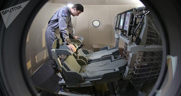 Modèle grandeur nature du vaisseau spatial russe Federatsia