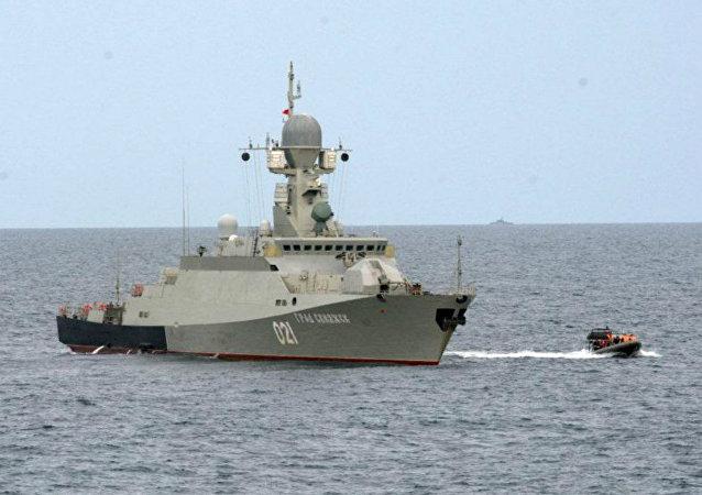 La corvette Grad Sviyajsk du classe Bouïan 21631