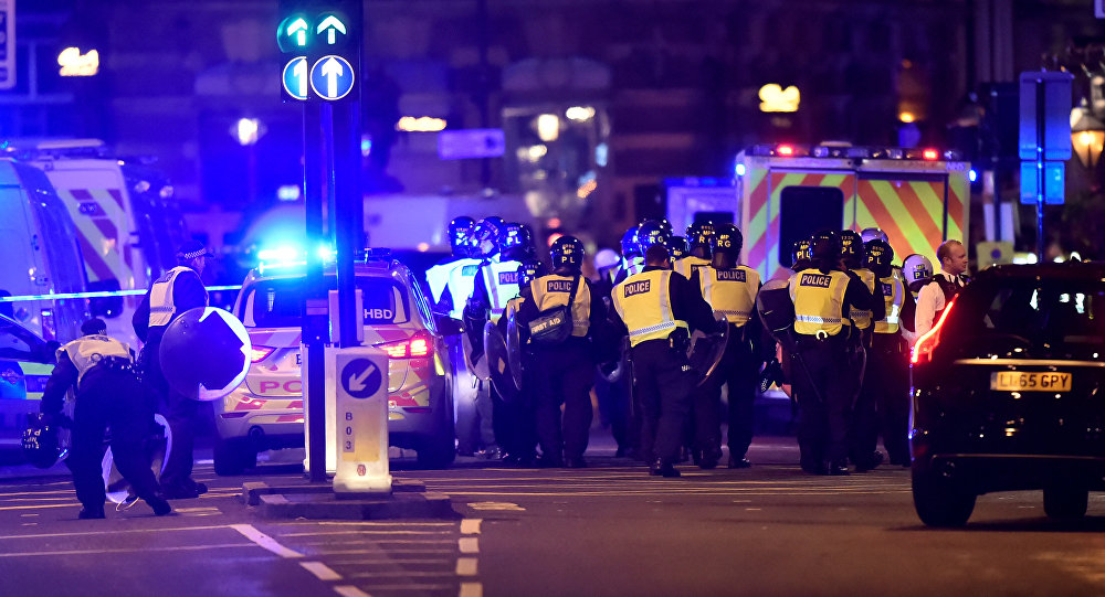 La police sur le London Bridge