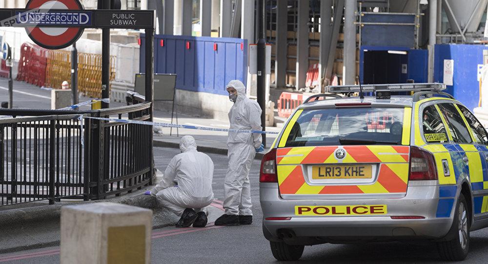 La police à Londres après l'attaque de London Bridge