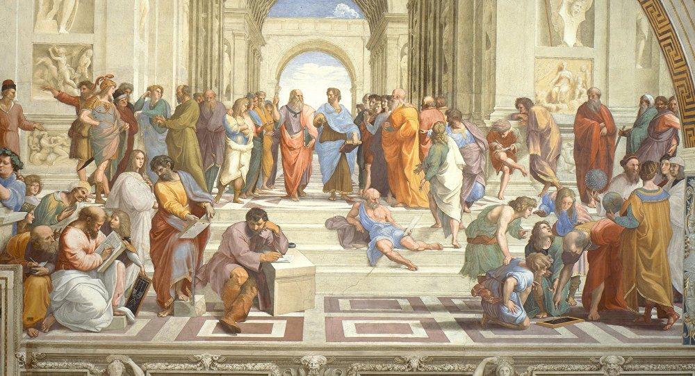 L'École d'Athènes (1510-1511) Fresque, Palais du Vatican