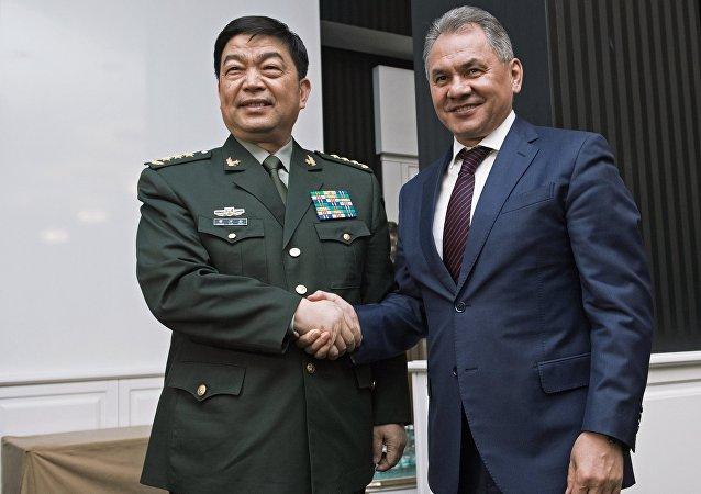 Sergueï Choïgou et Chang Wanquan