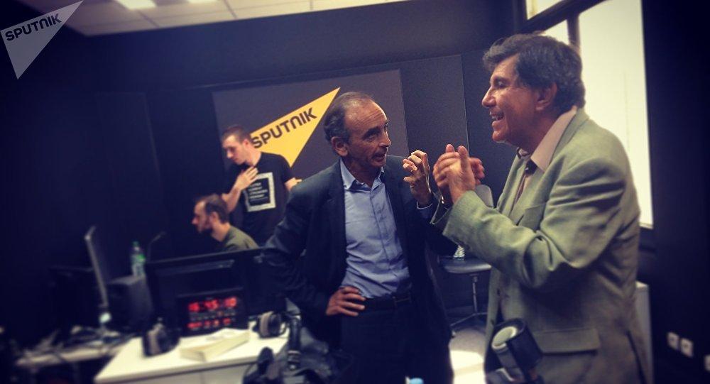 Le polémiste Eric Zemmour et l'universitaire Jacques Sapir