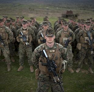 Soldats de l'armée américaine. Archive photo