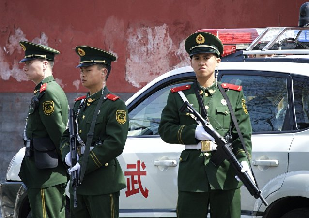 police, Chine, image d'illustration