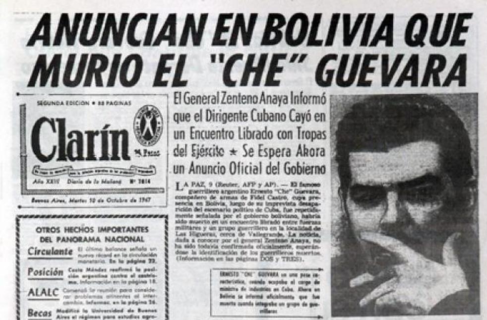 Annonce de la mort du Che