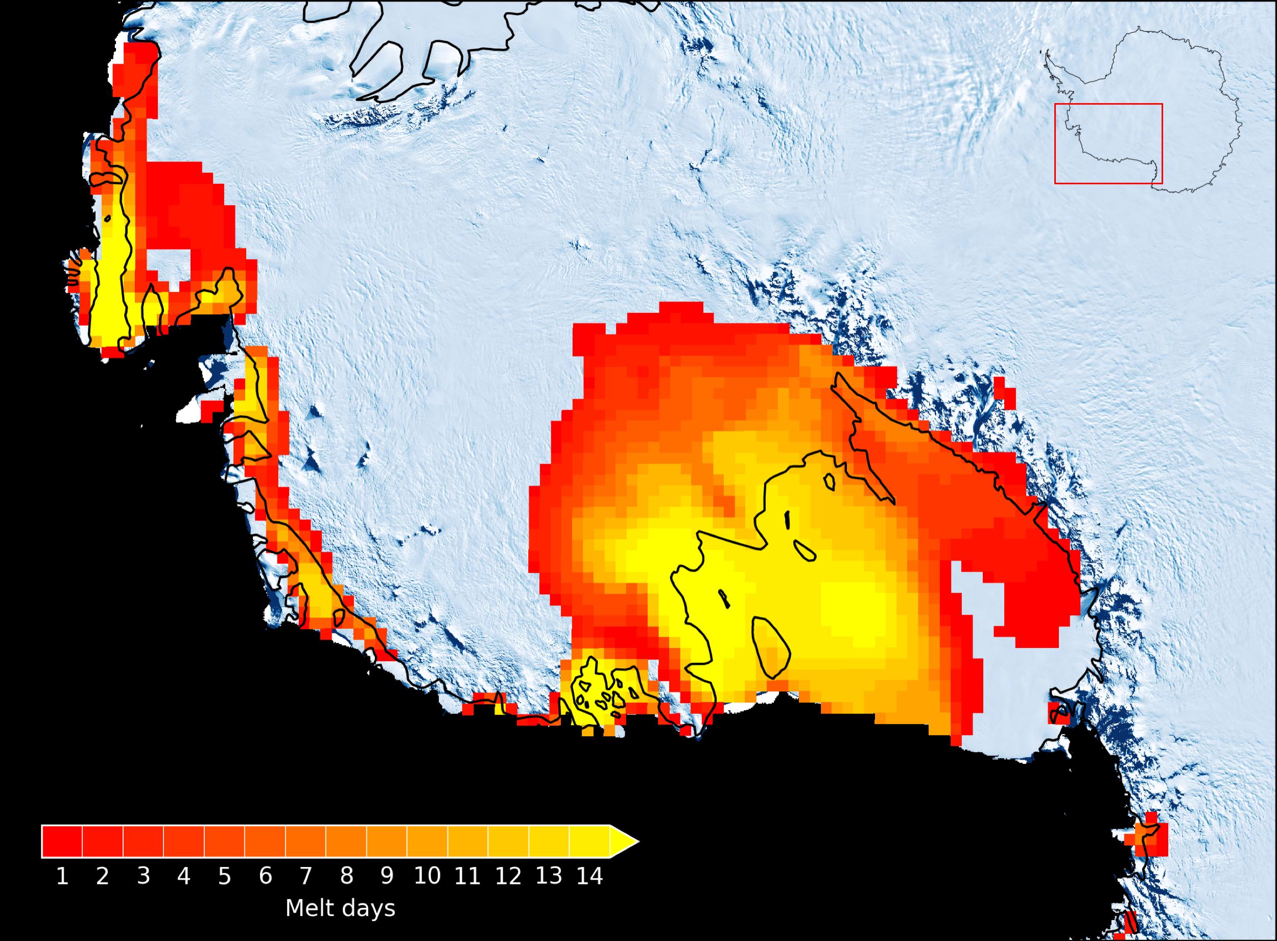 Les glaciers de l'Antarctique fondent de toute part