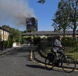 Incendie à Londres dans la nuit du 13 au 14 juin