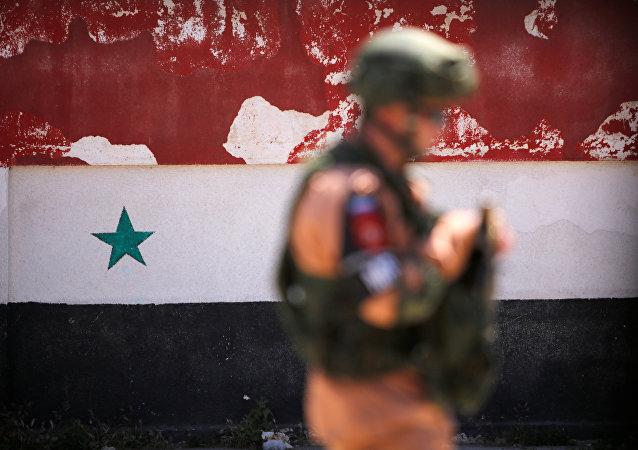 Un militaire russe en Syrie