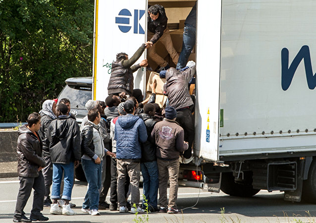 Des migrants, image d'illustration