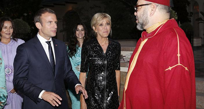 Le roi du Maroc Mohammed VI et le Président Emmanuel Macron à Rabat