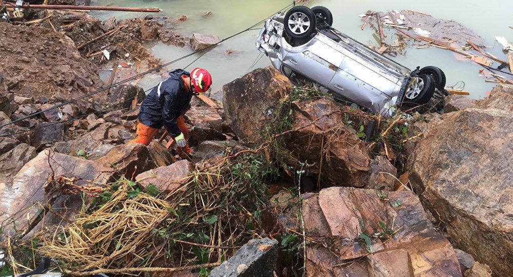 Un glissement de terrain (image d'illustration)