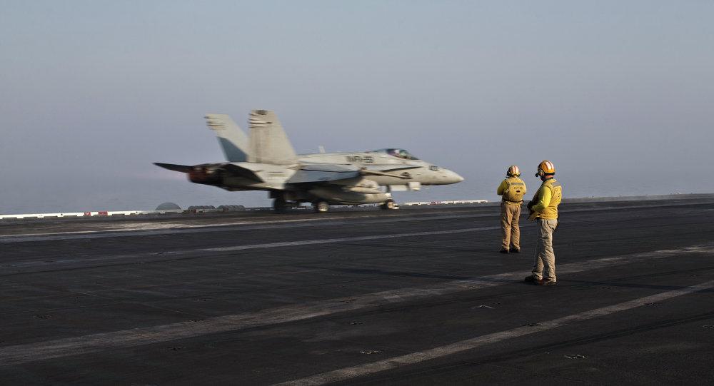 Un avion US décolle pour une mission (archives)